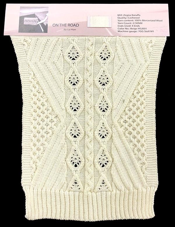 Designer: Lu Han- knitGrandeur: FIT Knitwear Specialization, Linear Stitch Design Project 2018