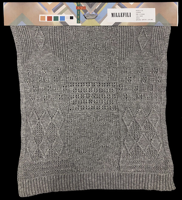 Designer: Rachel Cheang- knitGrandeur: FIT Knitwear Specialization, Linear Stitch Design Project 2018