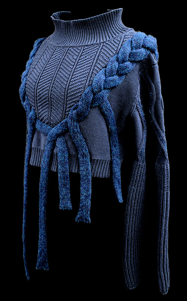 Designer: Cora Ramadan- knitGrandeur: FIT & Biagioli Modesto Collaboration 2018: Term Garment Project Featuring Cash 30