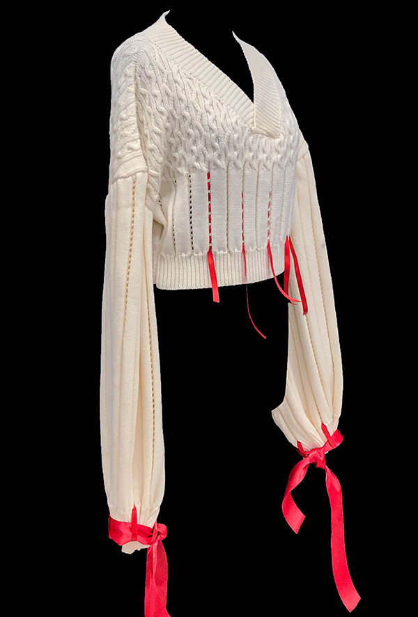 knitGrandeur: Designer: Jordain Williams- FIT & Biagioli Modesto Collaboration 2019: Term Garment Project Featuring Cash 30