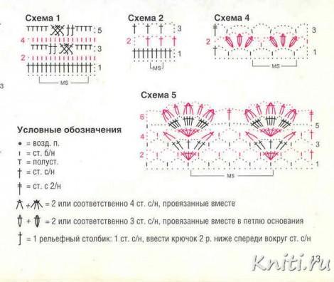 Схема вязания нарядного пуловра