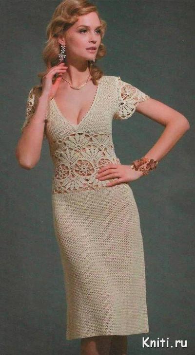 Вязание крючком элегантного летнего платья