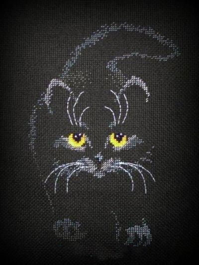 схема кошки крестиком
