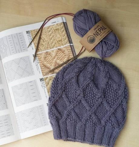 Stock Foto tricotat cap de tricotat