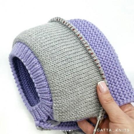 подкладка для шапки - шлема спицами