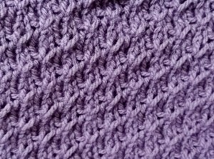 Close up of Ripple stitch pattern