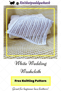 Photo of washcloth with text caption