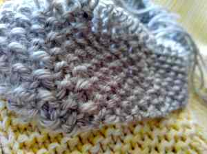 7acc46346a30a Close- up of moss stitch baby blanket edging