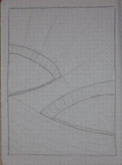 city sketch rays