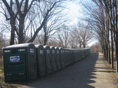 Port-a-potties galore