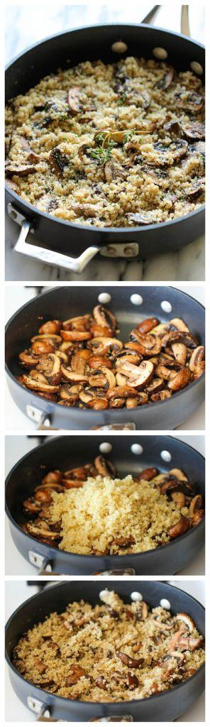 Pin Ups: Garlic & Mushroom Quinoa| knittedbliss.com
