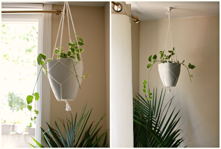 macrame plant holder| knittedbliss.com