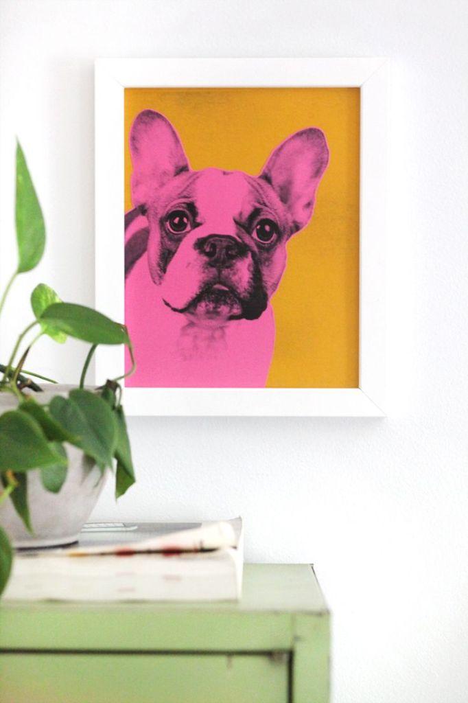 Pin Ups: DIY pet portraits| knittedbliss.com