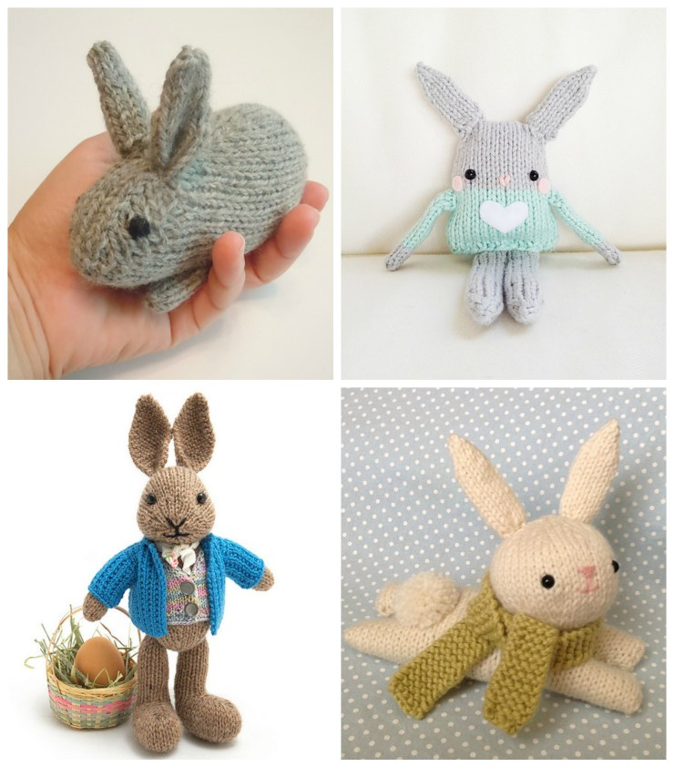 East Knitting Ideas: Bunny Patterns | knittedbliss.com