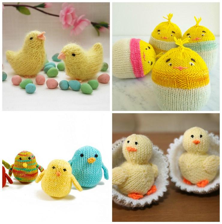 Easter Knitting Ideas: Easter Chick Patterns | knittedbliss.com