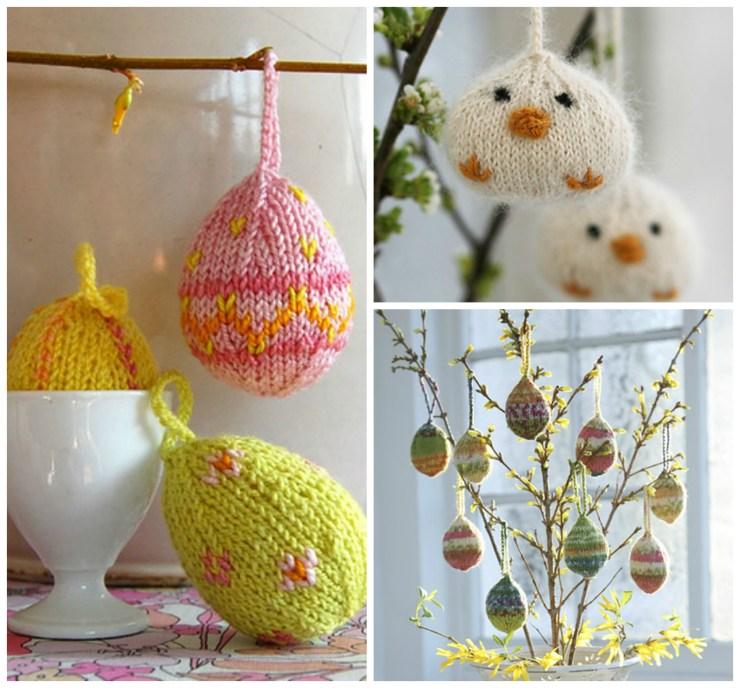 Easter Knitting Ideas: Egg Ornament Patterns | knittedbliss.com