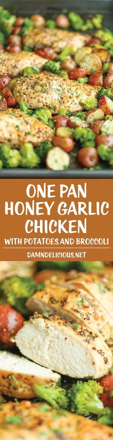 Pin Ups and Link Love: One Pan Honey Garlic Chicken | knittedbliss.com