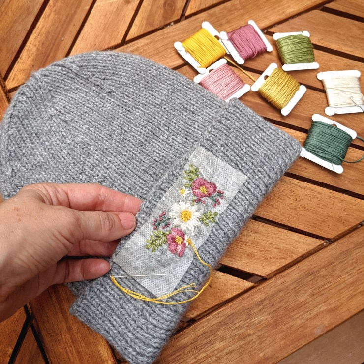 Learn to Embroider on Your Knits