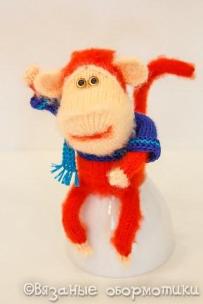 вязаная обезьяна обезьянка спицами