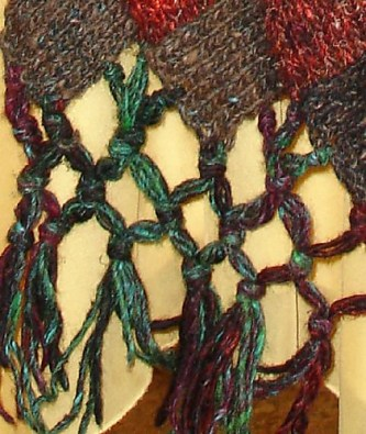 Detail showing the edge and the knotted fringe.