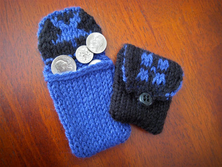 Free Pattern   Double Knitted Coin Purse   Knitting