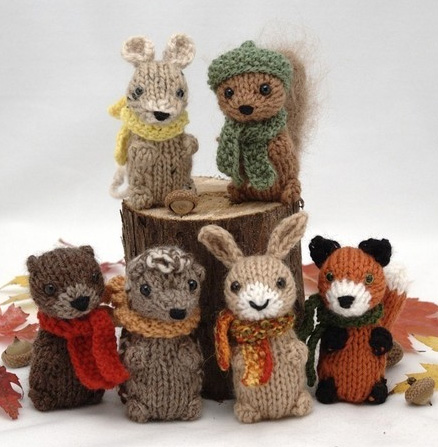 Knitting Patterns For Baby Animals : Wee Woodland Wuzzies?.   Knitting