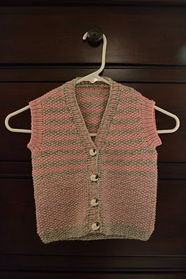 Free Pattern - Knitted Baby Vest - Knitting