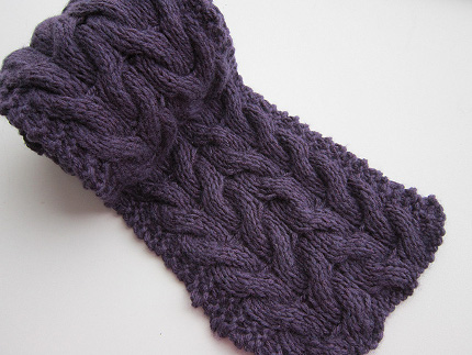 Free Knitting Pattern Chunky Cable Scarf : Free Pattern: Cabled Scarf   Knitting
