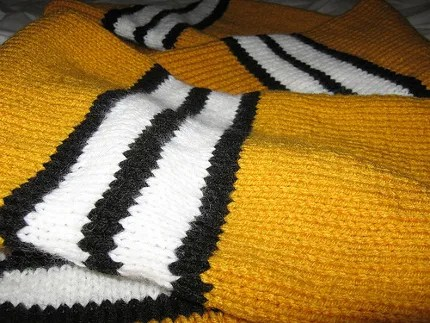 school spirit striped scarf