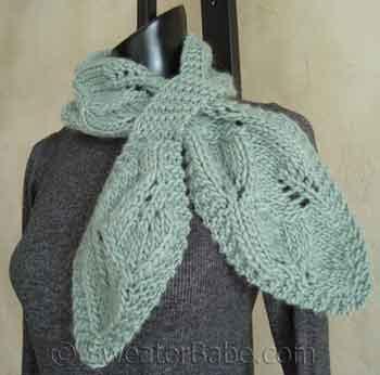 Free Knitting Pattern Lotus Leaf Scarf : Free Pattern: One-Skein Falling Leaves Scarf   Knitting