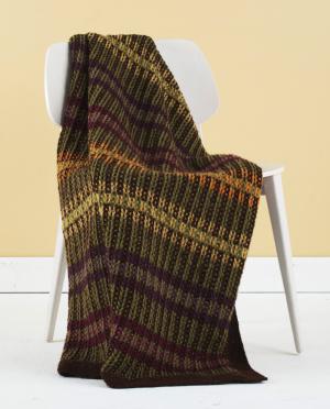 shaded stripes afghan