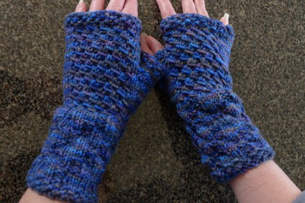 textured fingerless gloves
