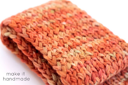 sunset scarf ribbing