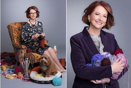 julia gillard knitting