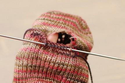 repairing sock