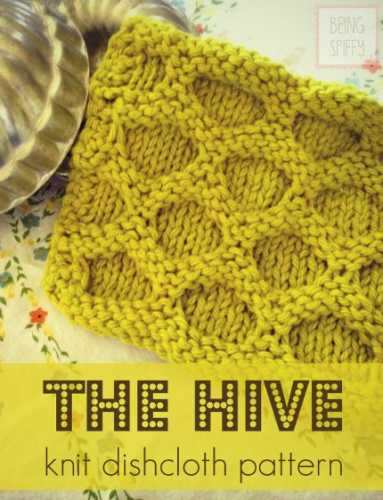 Free Knitting Pattern The Hive Knit Dishcloth Knitting