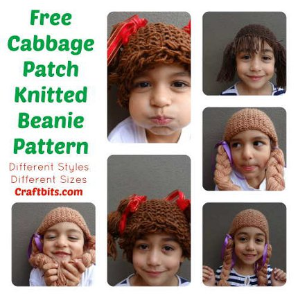 Knit A Cabbage Patch Doll Hair Hat Knitting