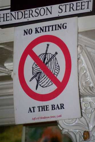 no knitting