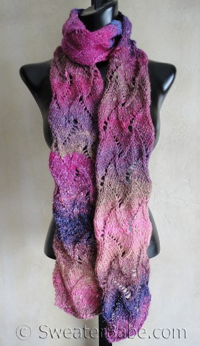 scroll lace scarf sweater babe