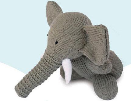 Knit a Sweet Toy Elephant