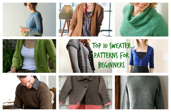 Top Ten Sweater Patterns For Beginners Knitting