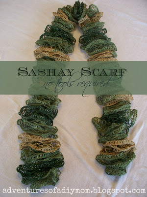 Finger Knit A Sashay Scarf Knitting
