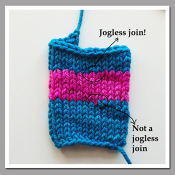 jogless stripes in round