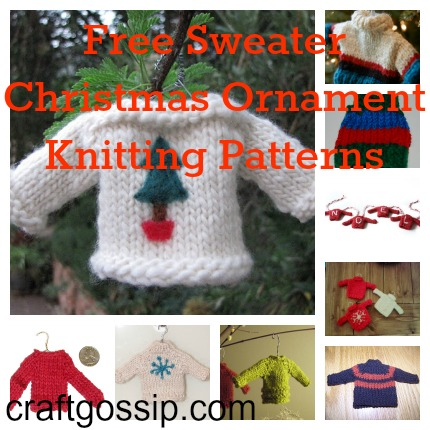 Knit Patterns Christmas Ornaments : Christmas Sweater Ornaments to Knit   Knitting