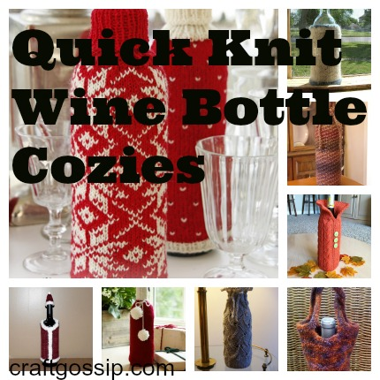 wine cozy knitting patterns