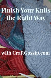 finishing knits