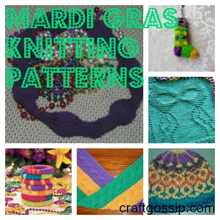 mardi gras knitting pattern