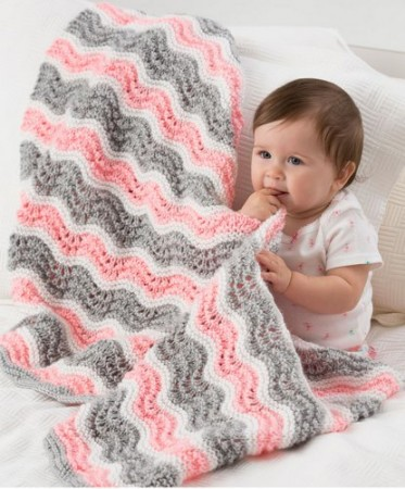 Knit an Easy Chevron Baby Blanket