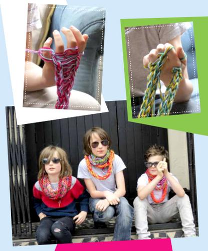 finger knitting craftfoxes