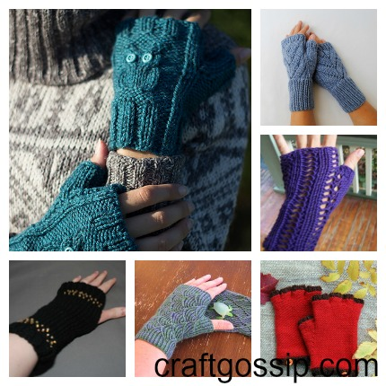 fingerless glove knitting patterns
